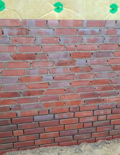 Ansicht Mauerwerk mit Isolierung
